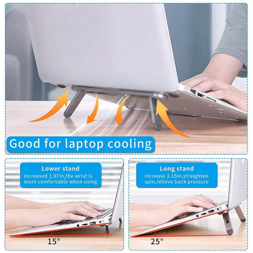 Ergonomic Foldable Aluminum Laptop Cooling Stand and Holder_7