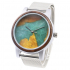 High quality eco wood resin dial stainless steel mesh strap sea wood watch