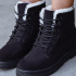 Suede Leather Lace-up Flat Boots-Dropshipping Available