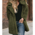 Pocketed Faux Fur Longline Coat-Dropshipping Available